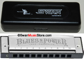 Swan 10 hole 20 tone Blues Harmonica,stainless steel cover,C key