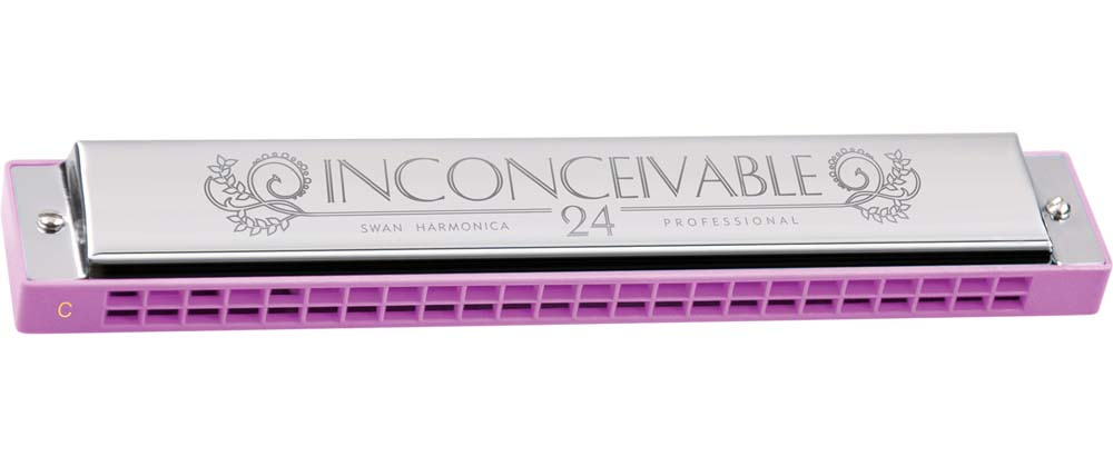 Swan 24 hole Inconceivable Professional Harmonica - pink