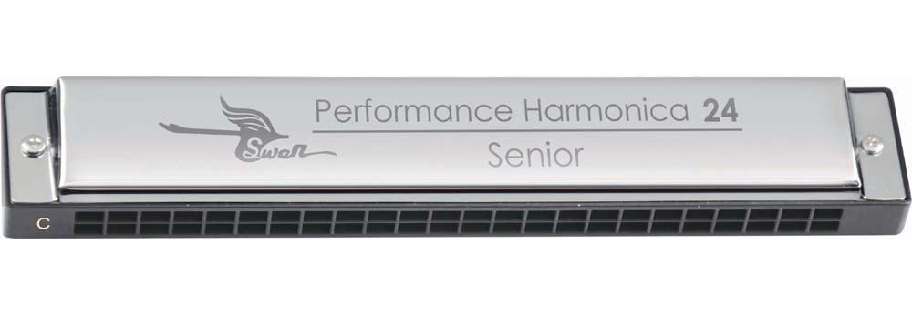 Swan 24 hole, senior performance harmonica, special-key - Click Image to Close