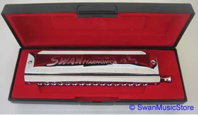 Swan 16 hole 64 tone Chromatic Harmonica