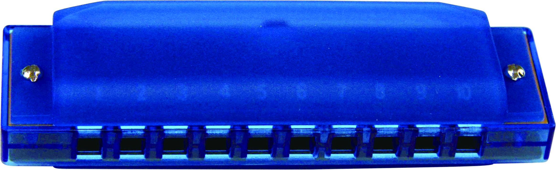 Swan 10 hole 20 tone plastic cover harmonica - blue - Click Image to Close
