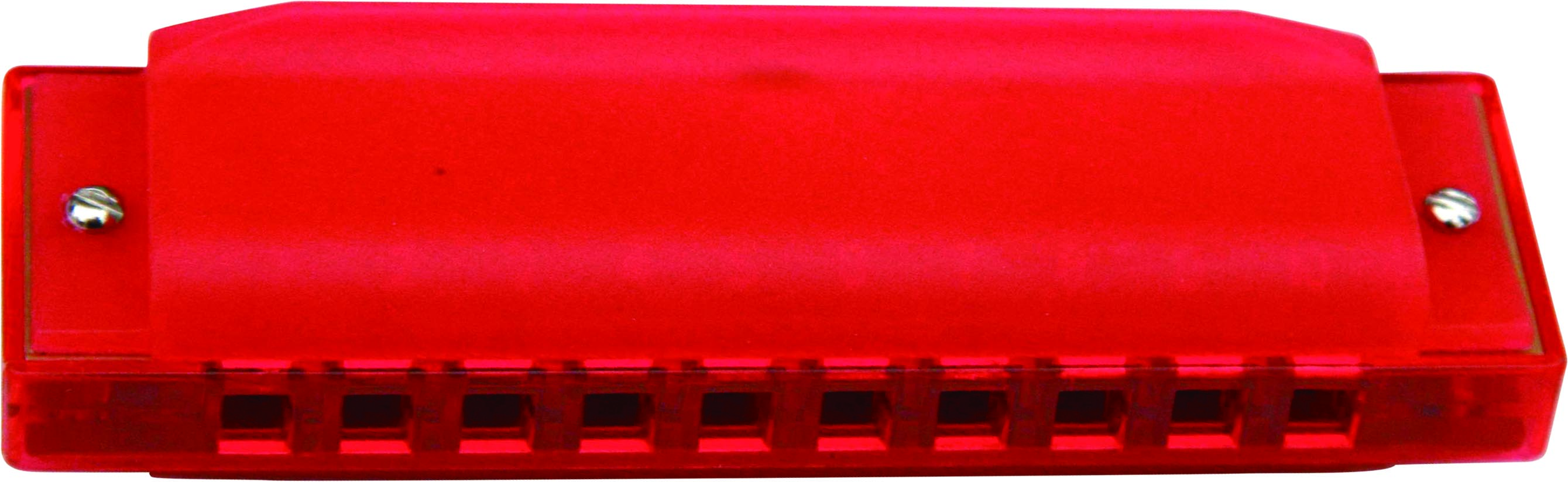 Swan 10 hole 20 tone plastic cover harmonica - red