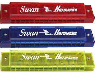Swan 16 hole transparent plastic cover harmonica
