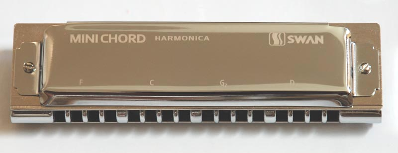 Swan mini chord harmonica - Click Image to Close